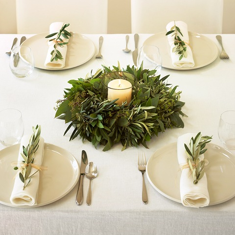Olive Branch Table Wreath