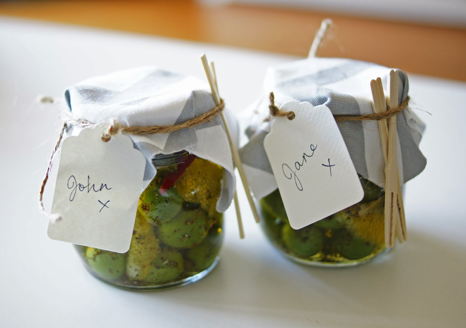 Gift Jars of Marinated Olives