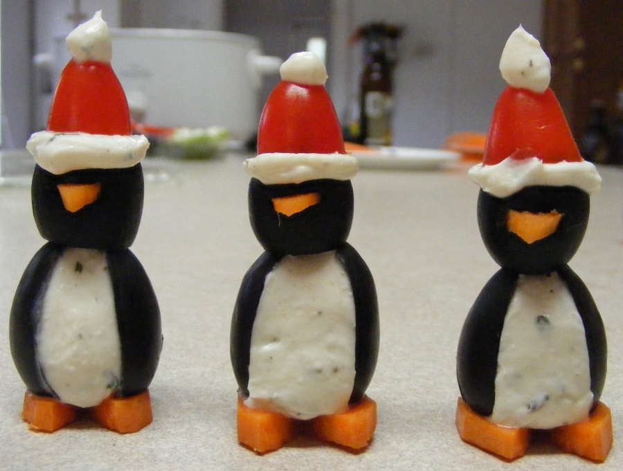 Olive Santa Penguins